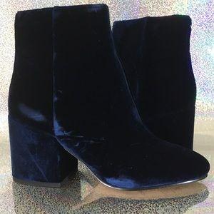 Sam Edelman blue velvet boots